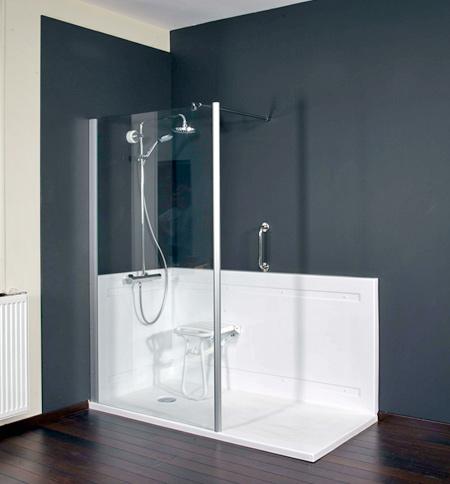 r novation de baignoire en douche swisspool balneo. Black Bedroom Furniture Sets. Home Design Ideas